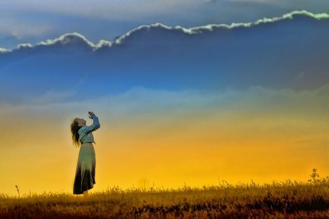 祈る  画像